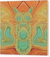 Gerbera Bird Abstract Wood Print