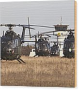 German Army Bo-105 Helicopters, Stendal Wood Print
