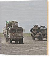 German Army Man 7t Mil Gl 6x6 Pritsche Wood Print
