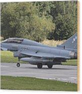 German Eurofighter Trainer Taking Wood Print