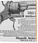 German Revolver, 1880 Wood Print