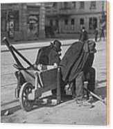German Street Sweepers Taking Lunchtime Wood Print