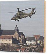 German Tiger Eurocopter Flying Wood Print