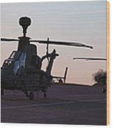 German Tiger Eurocopters At Stendal Wood Print