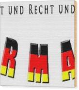 Germany Wood Print