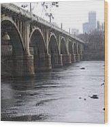 Gervais Street Bridge Angled Wood Print