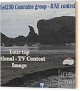 Get250 Comrades June Logo Wood Print