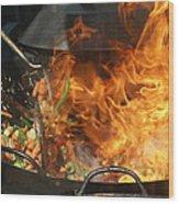 Getting Stir Fried Wood Print