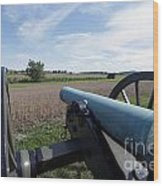 Gettysburg Vintage Cannon Wood Print