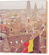 Ghent From Above Wood Print