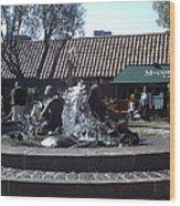 Ghiradelli Square Mermaid Fountain Wood Print