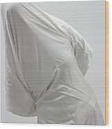 Ghost - Person Covered With White Cloth Wood Print