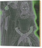 Ghost Family Portrait Wood Print