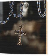 Ghost Of A Rosary Wood Print