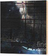 Ghost Ship Of The San Francisco Bay . 7d14032 Wood Print