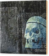 Ghost Skull Wood Print