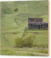 Ghost Town Galilee Saskatchewan Wood Print