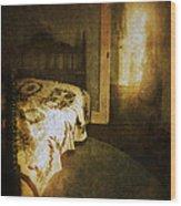 Ghostly Figure In Hallway Wood Print by Jill Battaglia