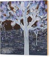 Ghostly Joshua Tree Wood Print