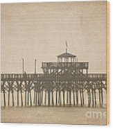 Ghostly Pier Wood Print