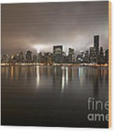 Ghostly Skyline Wood Print
