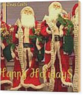 Ghosts Of Christmas Costs Greeting Card Wood Print