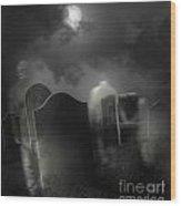 Ghosts Wandering In Old Cemetery  Wood Print by Sandra Cunningham
