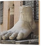 Giant Foot From Emperor Constantine Statue. Capitoline Museum. R Wood Print
