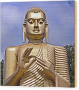 Giant Gold Bhudda Wood Print by Jane Rix