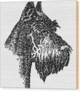 Giant-schnauzer-portrait Wood Print