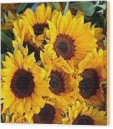 Giant Sunflowers For Sale In The Swiss City Of Lucerne Wood Print