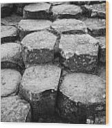 Giants Causeway Stones Northern Ireland Wood Print
