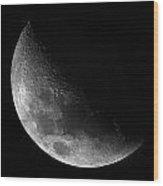 Gibbeous Moon Wood Print