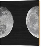 Gibbous Moon Wood Print