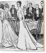 Gibson: After-dinner, 1899 Wood Print