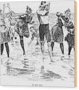 Gibson: Bathing, 1892 Wood Print