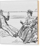 Gibson: Beach, 1900 Wood Print