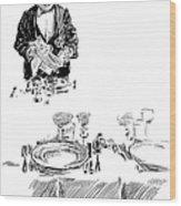 Gibson: Butler, 1900 Wood Print