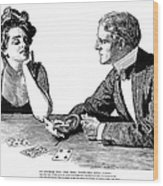 Cards, 1900 Wood Print