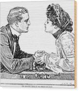 Chess Game, 1903 Wood Print