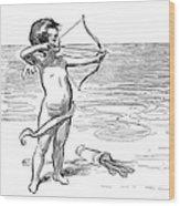 Cupid, 1900 Wood Print