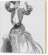 Gibson: Gibson Girl, 1904 Wood Print
