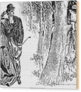 Gibson: Highwayman, 1898 Wood Print