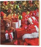 Gifts Under The Tree For Christmas Wood Print