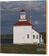 Gilbert Cove Lighthouse Wood Print