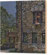 Gillette Castle Exterior Hdr Wood Print