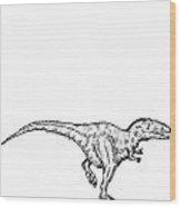 Gimpusaurus - Dinosaur Wood Print by Karl Addison