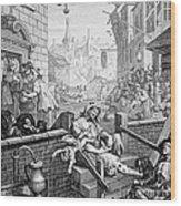 Gin Lane, William Hogarth Wood Print