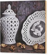 Ginger Jar And Compote Still Life Wood Print by Tom Mc Nemar