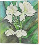 Ginger Lilies Wood Print